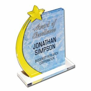 Custom Acrylic Desk Plaque W/ Stand (Up to 9 Square Inch)